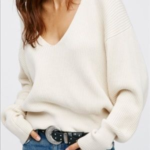 Free People Allure Sweater Ivory